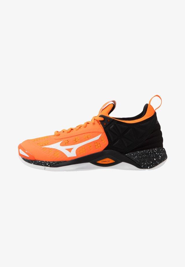 WAVE MOMENTUM - Volleyball shoes - orange clown fish/white/black