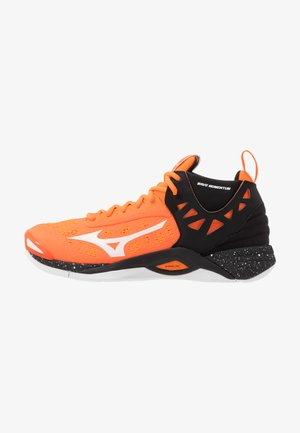 WAVE MOMENTUM MID - Volleyball shoes - orange clown fish/white/black