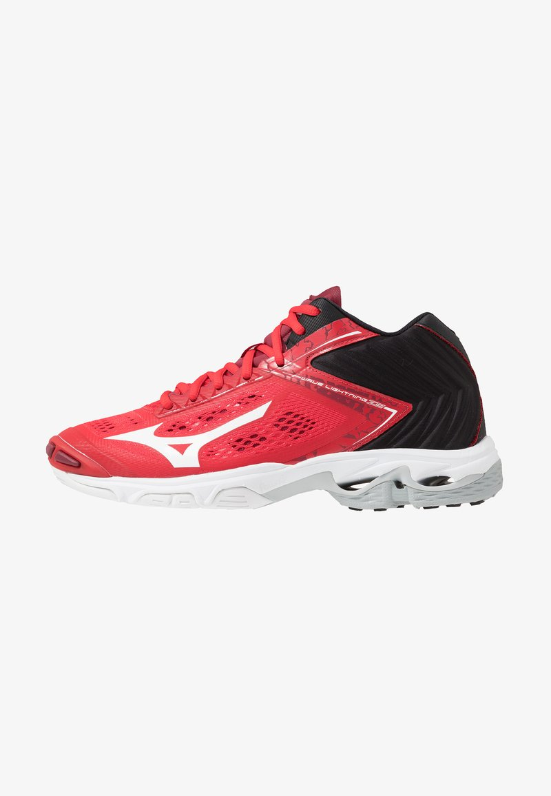 Mizuno - WAVE LIGHTNING Z5 MID - Zapatillas de voleibol - tomato/white/black