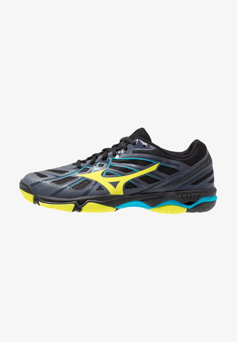 Mizuno - WAVE HURRICANE 3 - Handball shoes - ombre blue/safety yellow/hawaiian ocean