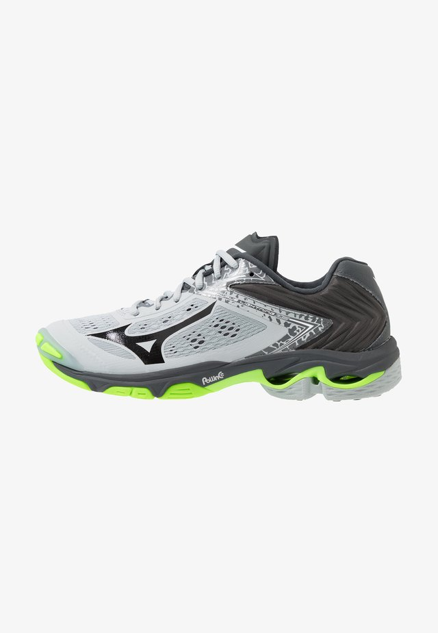 WAVE LIGHTNING Z5 - Volleyball shoes - high rise/black/green gecko