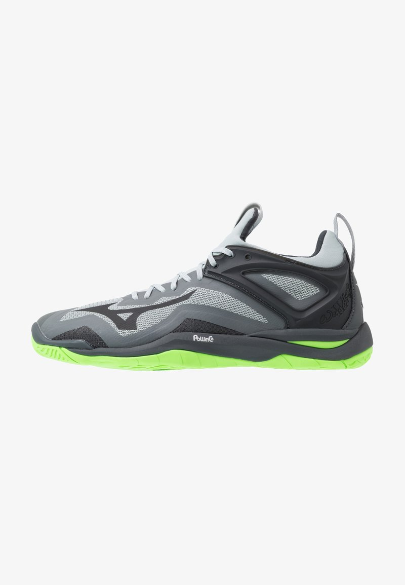 Mizuno - WAVE MIRAGE 3 - Håndballsko - high rise/black/green gecko