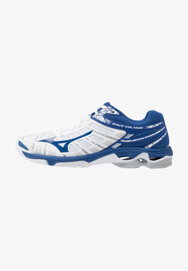 WAVE VOLTAGE - Volleyball shoes - white/true blue