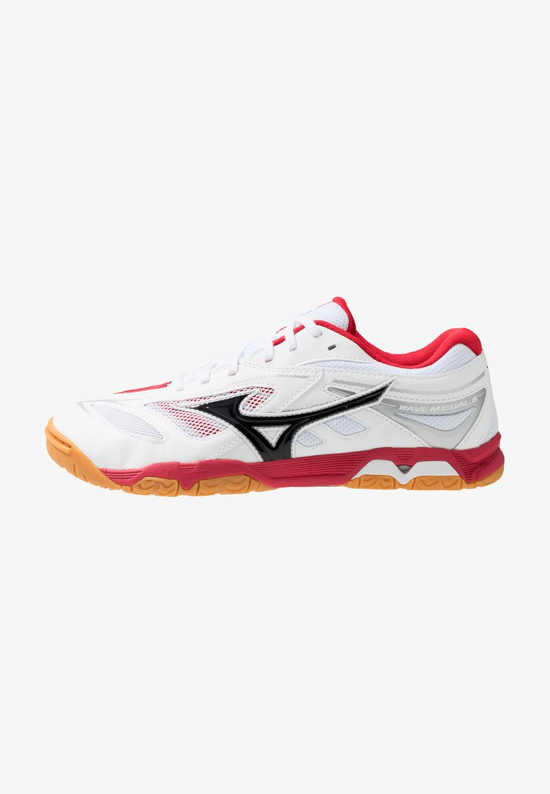 Mizuno - WAVE MEDAL 6 - Sportschoenen - white/black/chinese red
