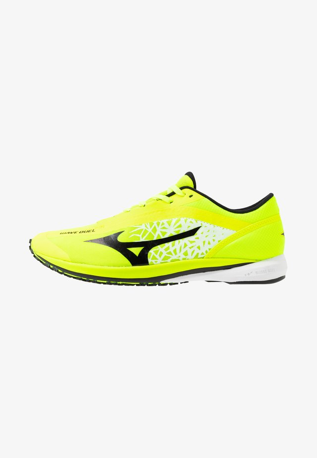 WAVE DUEL - Competition running shoes - safety yellow/black/silver