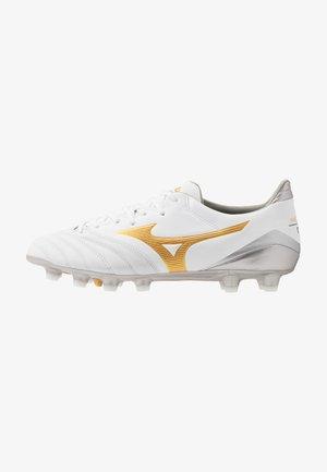 MORELIA NEO KL II - Chaussures de foot à crampons - white/gold