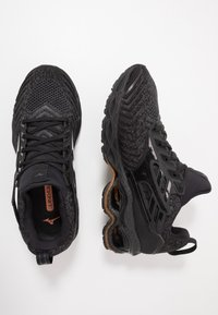 Mizuno - WAVE CREATION WAVEKNIT 2 - Neutrale løbesko - dark shadow/black - 1