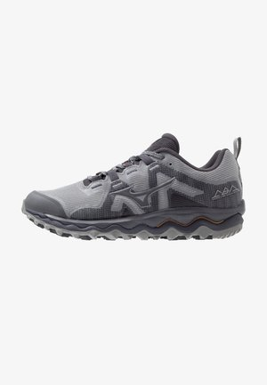 WAVE MUJIN 6 - Trail running shoes - frost gray/preriscope