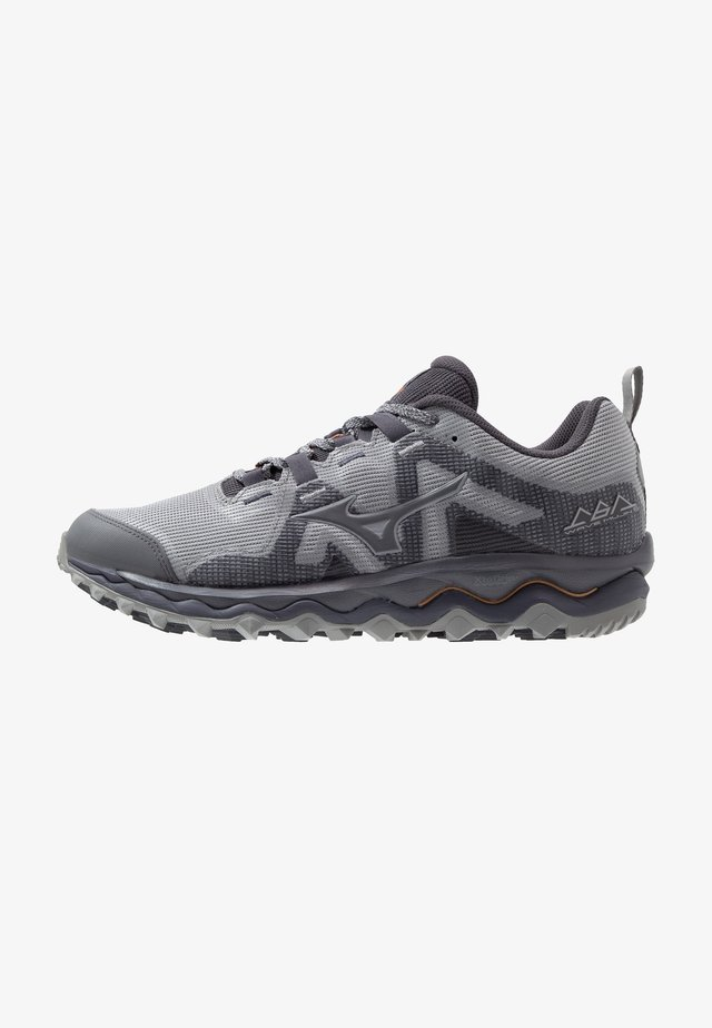 WAVE MUJIN 6 - Chaussures de running - frost gray/preriscope