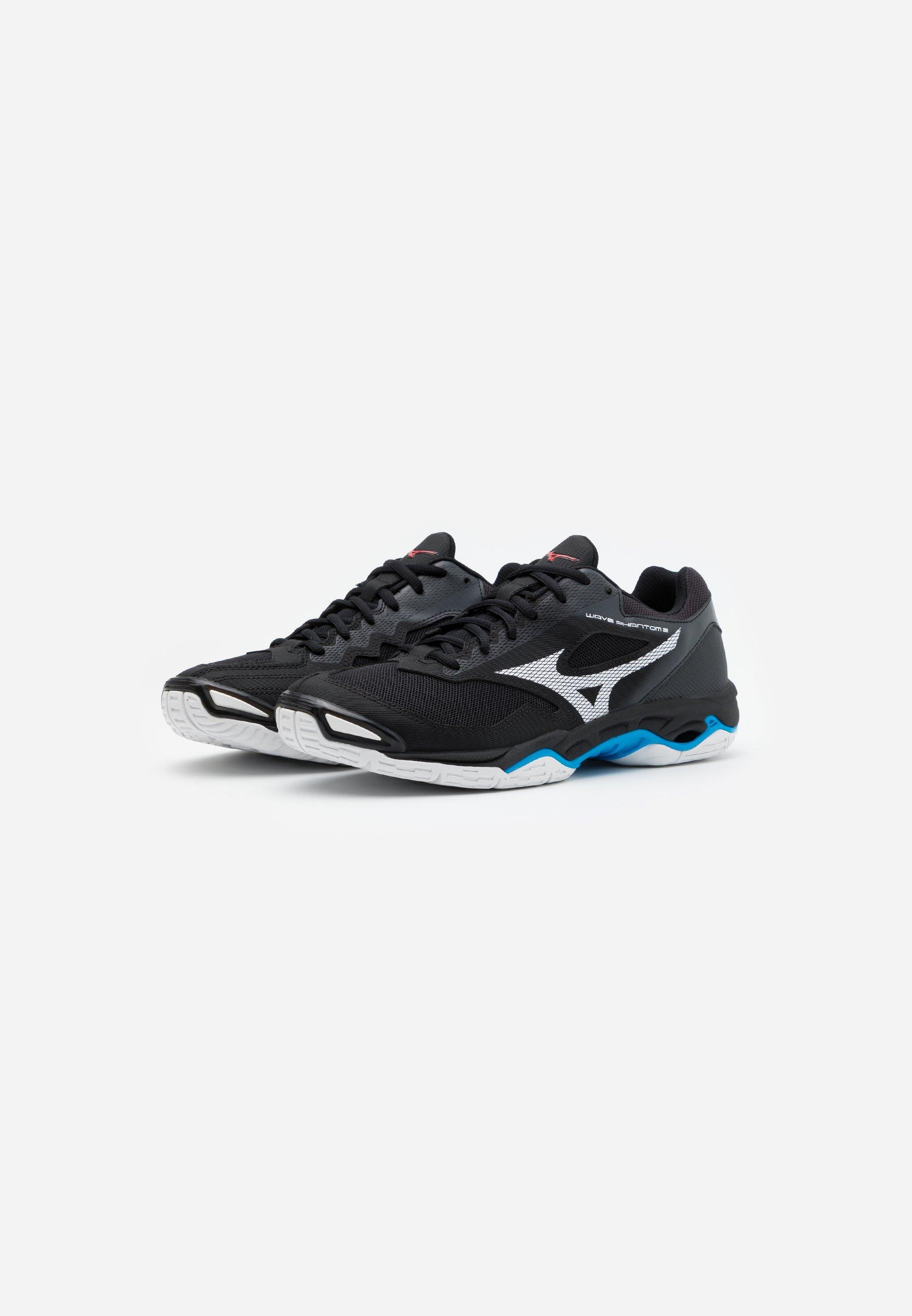 WAVE PHANTOM 2 Chaussures de handball blackwhitediva blue