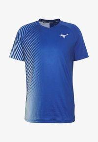 Mizuno - SHADOW GRAPHIC TEE - Print T-shirt - true blue - 4