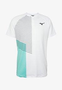 Mizuno - SHADOW - Print T-shirt - white - 4