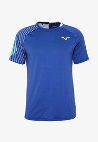 Mizuno - SHADOW TEE - T-shirts print - true blue - 3