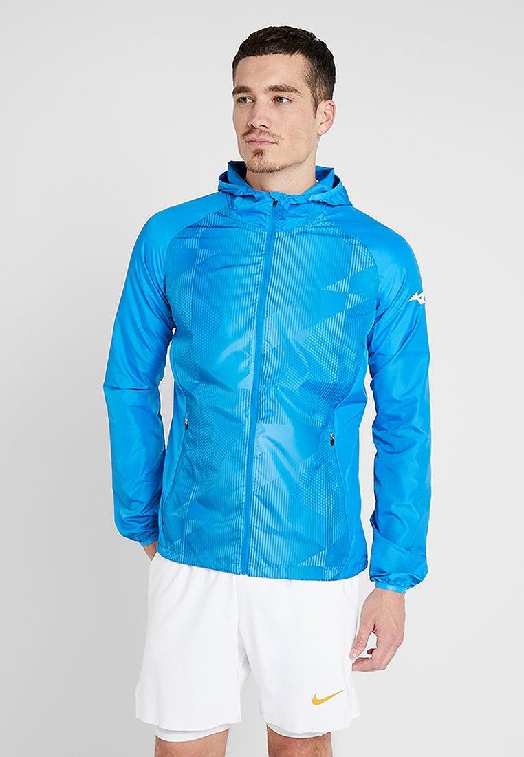 Mizuno - PRINTED HOODY JACKET - Veste imperméable - brilliant blue