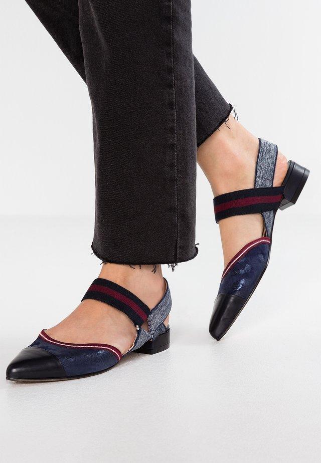 Ankle strap ballet pumps - dunkelblau