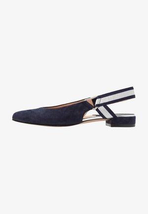 Slingback ballet pumps - dunkelblau