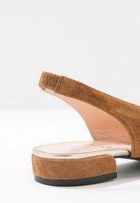 Maripé - Slingback ballet pumps - sellaluxor/oro chiaro - 2