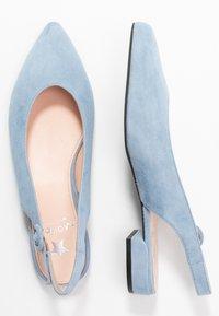 Maripé - Slingback ballet pumps - light blue - 3