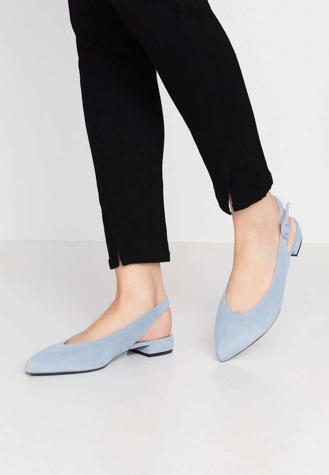 Ballerinaskor med slingback - light blue