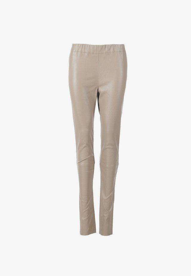 Spodnie skórzane - mud