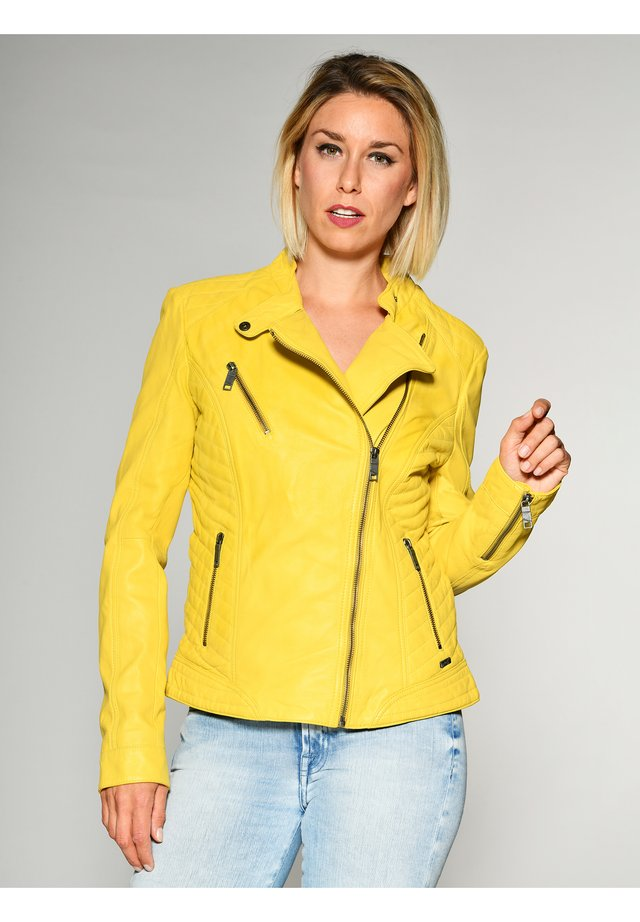 Leather jacket - lemon