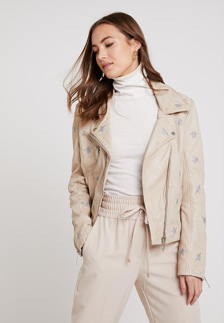 Maze - Leather jacket - creme