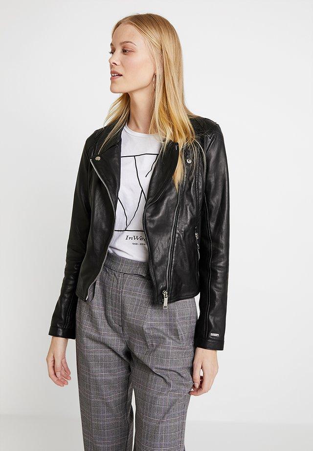 INDIANA - Leather jacket - black
