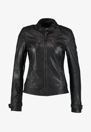 RYANA - Kožená bunda - black