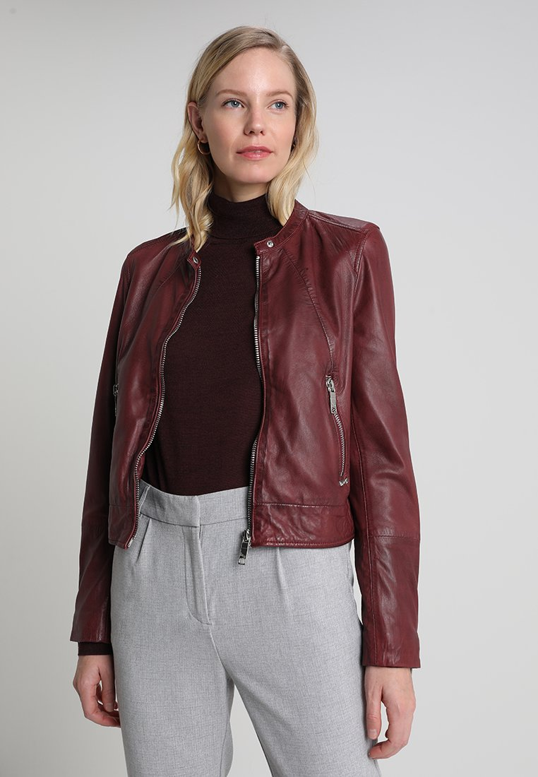 Maze - GRENADA - Leather jacket - wine