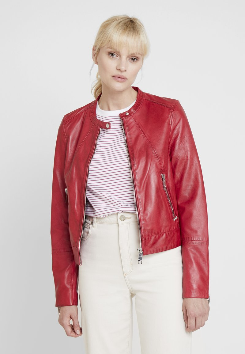 Maze - GRENADA - Leather jacket - red