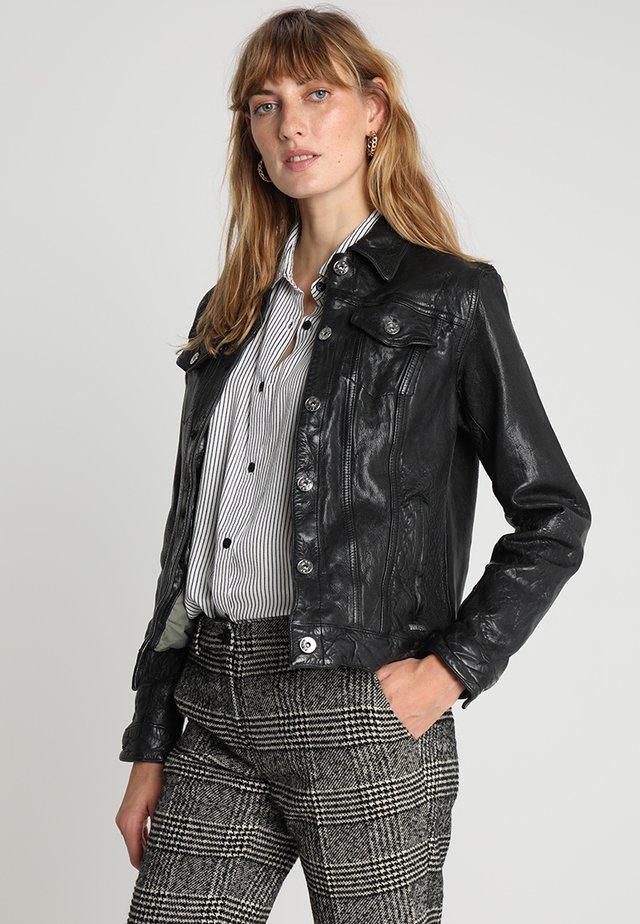 CARDRONA - Leather jacket - black