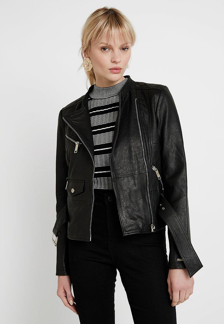 Maze - TIOGA - Leather jacket - black