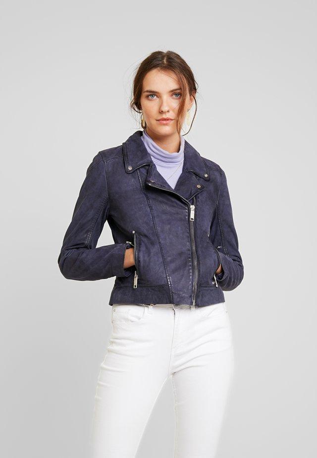 ROMIE - Leather jacket - ocean blue