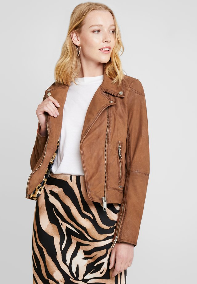 ROMIE - Leather jacket - cognac