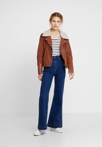 Maze - LECHA - Leather jacket - cognac - 1
