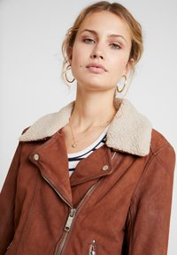 Maze - LECHA - Leather jacket - cognac - 3