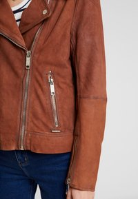 Maze - LECHA - Leather jacket - cognac - 5