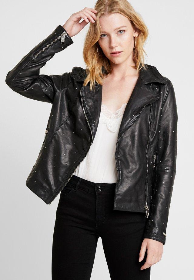 PIN - Veste en cuir - black