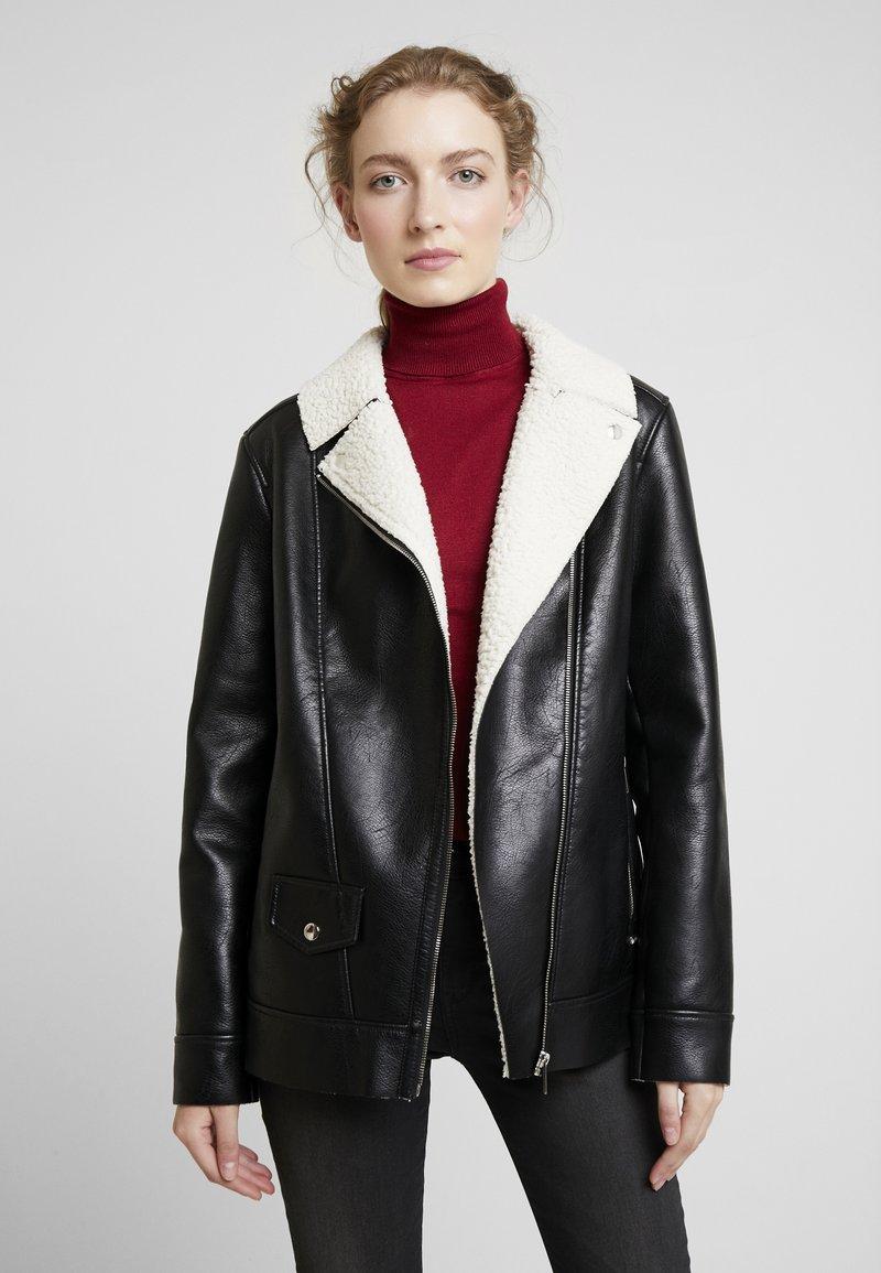 Maze - ANACORTES - Faux leather jacket - black