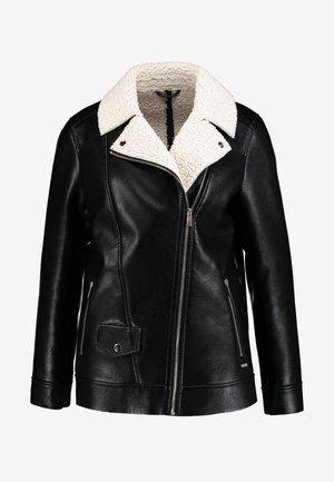 ANACORTES - Faux leather jacket - black