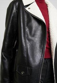Maze - ANACORTES - Faux leather jacket - black - 4
