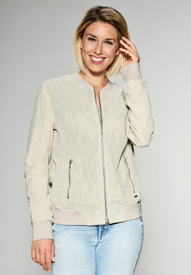 CAMPINAS - Leather jacket - off white