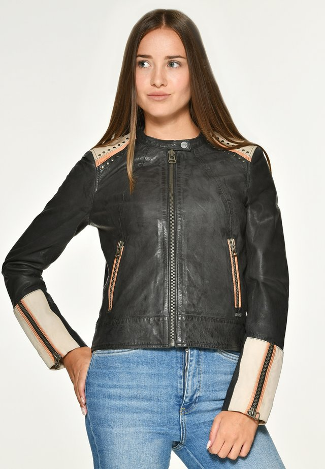 ANZA - Leather jacket - black