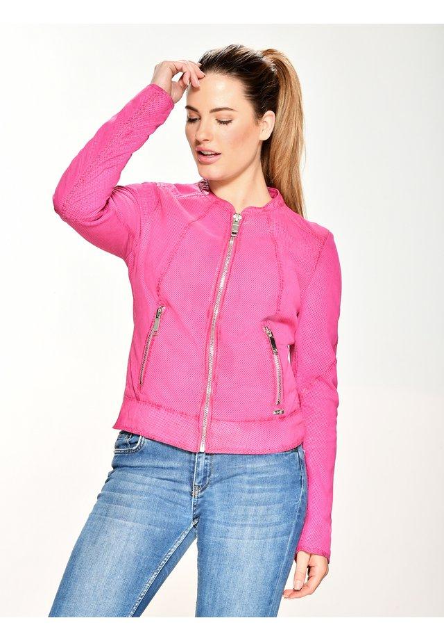 Kurtka skórzana - pink