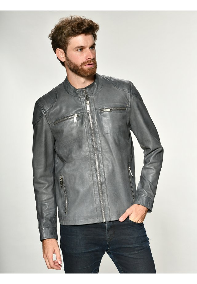 Lederjacke - grey