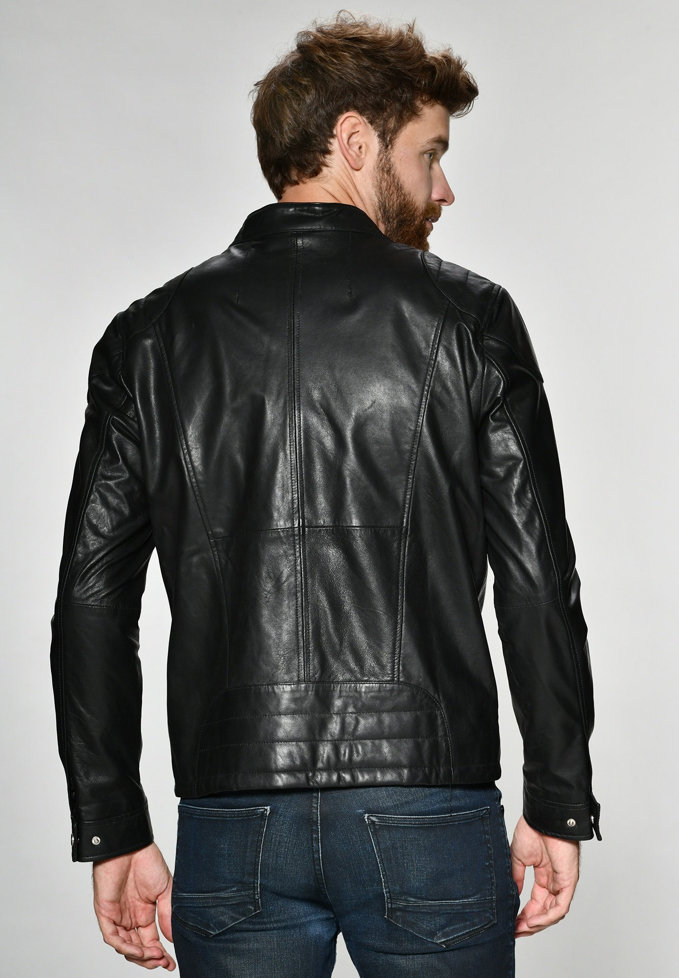 Leren jas black