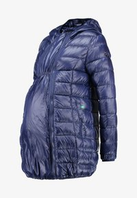 Modern Eternity - ASHLEY LIGHTWEIGHT MATERNITY JACKET WITH HOOD - Winterjas - navy - 4