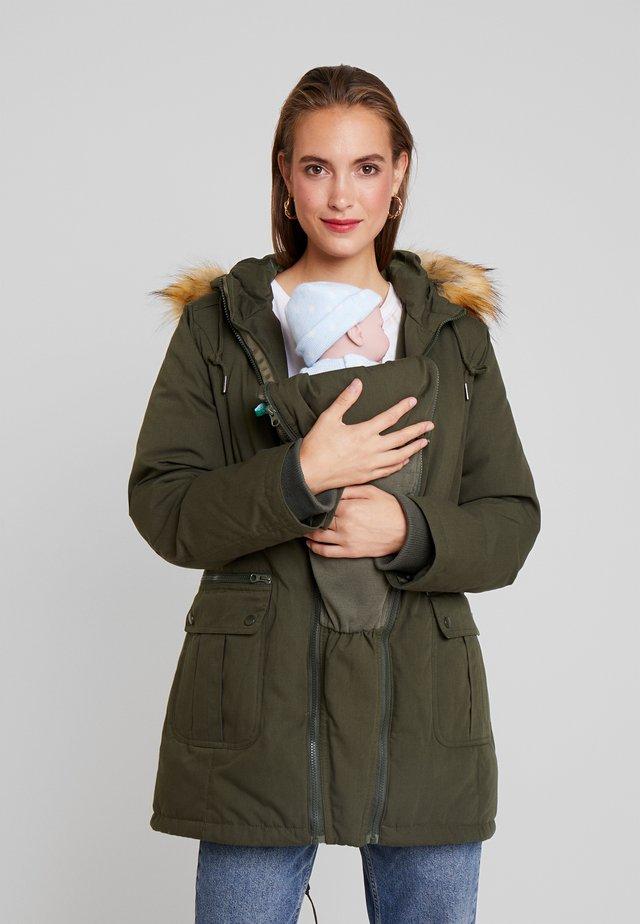 SARA 3-IN-1 MATERNITY - Zimní kabát - khaki