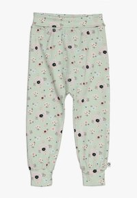 Müsli by GREEN COTTON - SPICY ANEMONES PANTS BABY - Pantalones - dusty green - 0