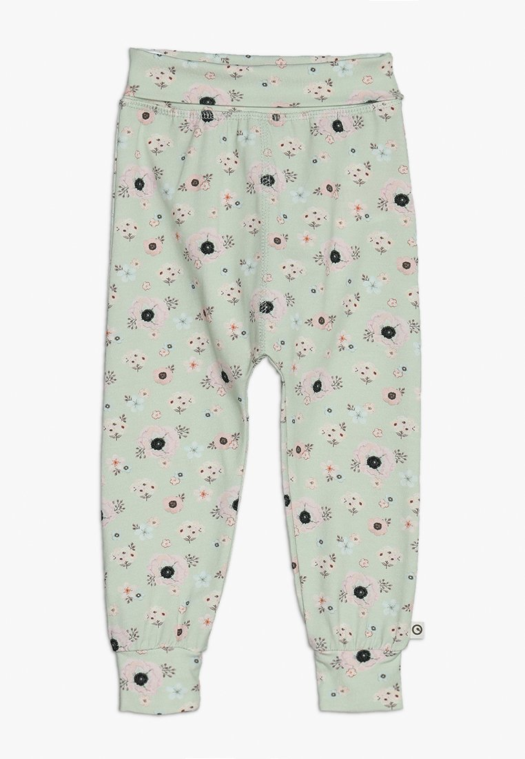 Müsli by GREEN COTTON - SPICY ANEMONES PANTS BABY - Pantalones - dusty green